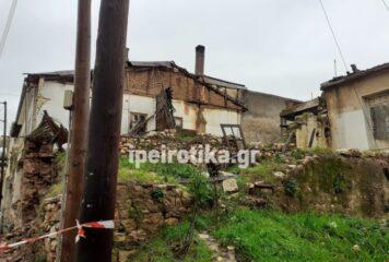 Ιωάννινα: Τοίχος κτίσματος κατέρρευσε από τη βροχή
