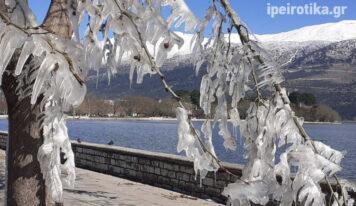 Γυάλινα Γιάννενα: Τα «γλυπτά» που άφησαν πίσω τους οι… -10°C